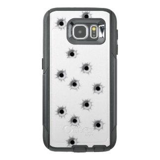 Funda OtterBox Para Samsung Galaxy S6 Caja del teléfono celular de los agujeros de bala