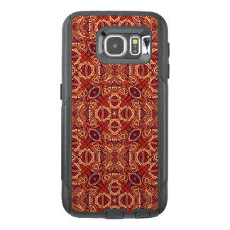 Funda OtterBox Para Samsung Galaxy S6 Diseño rizado dibujado mano colorida abstracta del