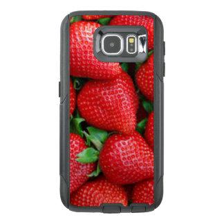 Funda OtterBox Para Samsung Galaxy S6 Diseño rojo del modelo de las fresas