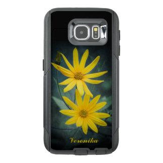 Funda OtterBox Para Samsung Galaxy S6 Dos flores amarillas de alcachofa de Jerusalén