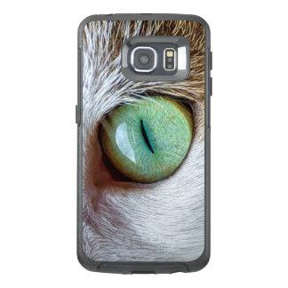 Funda OtterBox Para Samsung Galaxy S6 Edge El ojo de gato verde que cautiva