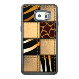 Funda OtterBox Para Samsung Galaxy S6 Edge Plus Collage de los vaqueros del estampado de animales