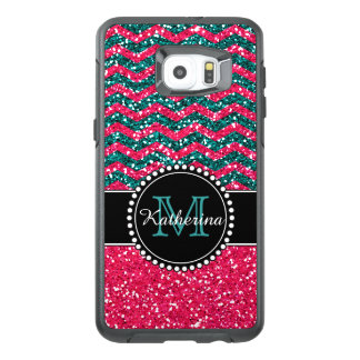 Funda OtterBox Para Samsung Galaxy S6 Edge Plus Defensor personalizado Chevron del purpurina del