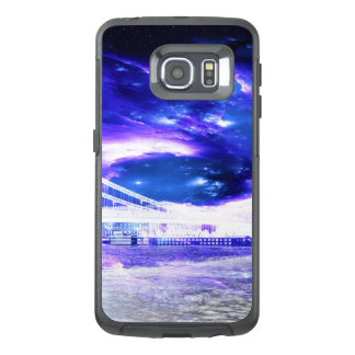 Funda OtterBox Para Samsung Galaxy S6 Edge Sueños Amethyst de Budapest del zafiro