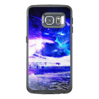 Funda OtterBox Para Samsung Galaxy S6 Edge Sueños Amethyst de Budapest del zafiro de Amorem