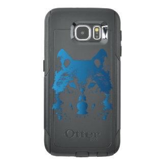 Funda OtterBox Para Samsung Galaxy S6 Lobo de los azules claros del ilustracion