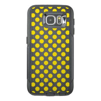 Funda OtterBox Para Samsung Galaxy S6 Lunares amarillos