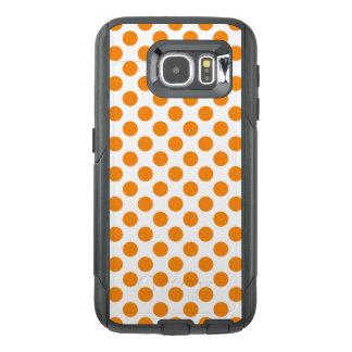 Funda OtterBox Para Samsung Galaxy S6 Lunares anaranjados