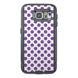Funda OtterBox Para Samsung Galaxy S6 Lunares púrpuras