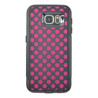 Funda OtterBox Para Samsung Galaxy S6 Lunares rosados
