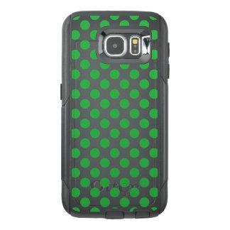 Funda OtterBox Para Samsung Galaxy S6 Lunares verdes