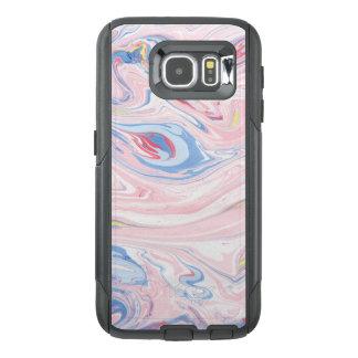 Funda OtterBox Para Samsung Galaxy S6 Modelo de mármol colorido