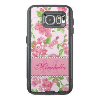 Funda OtterBox Para Samsung Galaxy S6 Nombre de ramas rosado del flor de la acuarela de