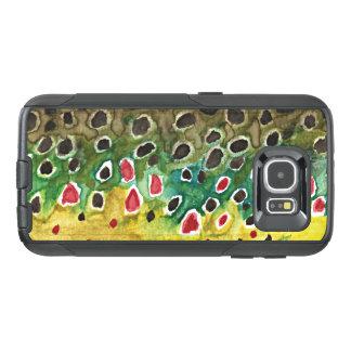 Funda OtterBox Para Samsung Galaxy S6 Pesca de la trucha de Brown, ictiología