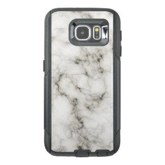 Funda OtterBox Para Samsung Galaxy S6 Piedra de mármol blanca negra de mármol de marfil
