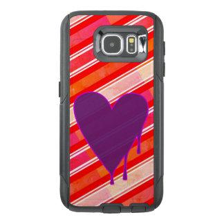 Funda OtterBox Para Samsung Galaxy S6 Púrpura de fusión del corazón