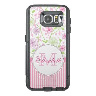 Funda OtterBox Para Samsung Galaxy S6 Rayas del rosa en colores pastel, de la púrpura,
