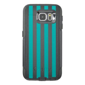 Funda OtterBox Para Samsung Galaxy S6 Rayas verticales de la aguamarina