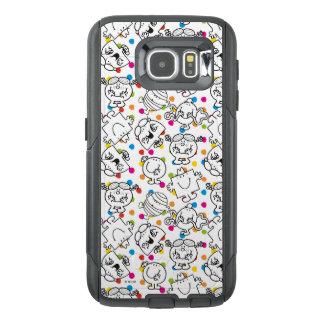 Funda OtterBox Para Samsung Galaxy S6 Sr. Men y pequeño modelo de lunares del arco iris