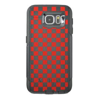 Funda OtterBox Para Samsung Galaxy S6 Tablero de damas rojo
