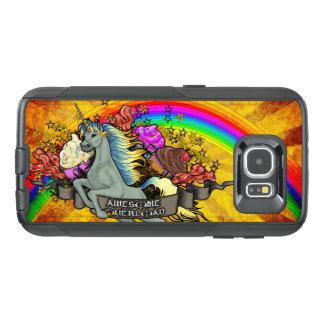 Funda OtterBox Para Samsung Galaxy S6 Unicornio impresionante, arco iris y tocino de la