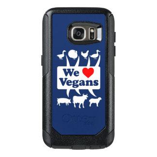 Funda Otterbox Para Samsung Galaxy S7 Amamos a los veganos II (blancos)