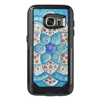 Funda Otterbox Para Samsung Galaxy S7 Azules turquesas marroquíes tradicionales, blanco,