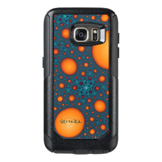 Funda Otterbox Para Samsung Galaxy S7 Burbujas anaranjadas
