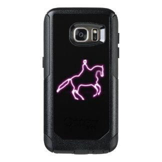 Funda Otterbox Para Samsung Galaxy S7 Caja de neón púrpura del teléfono del caballo del