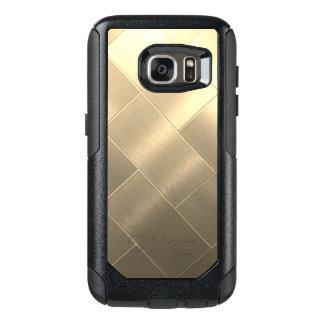 Funda Otterbox Para Samsung Galaxy S7 Cajas cepilladas de Samsung del estilo del oro