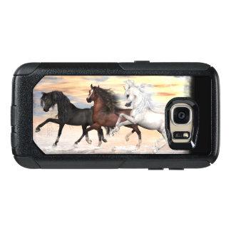 Funda Otterbox Para Samsung Galaxy S7 Caso de 3 de los caballos series del viajero,