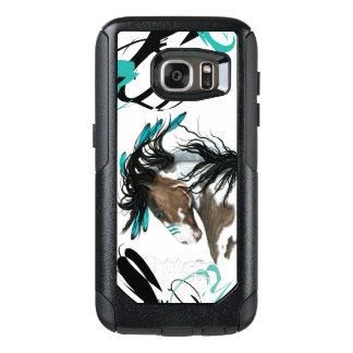Funda Otterbox Para Samsung Galaxy S7 Caso majestuoso de la célula del caballo del Pinto