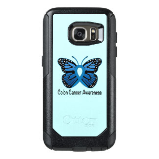 Funda Otterbox Para Samsung Galaxy S7 Conciencia del cáncer de colon: Mariposa