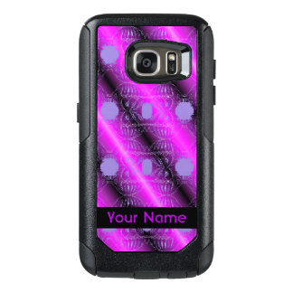 Funda Otterbox Para Samsung Galaxy S7 Diseño abstracto negro púrpura rosado