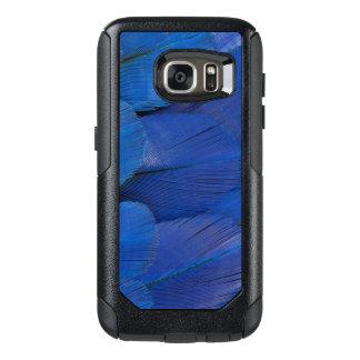Funda Otterbox Para Samsung Galaxy S7 Diseño azul de la pluma del Macaw del jacinto