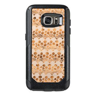 Funda Otterbox Para Samsung Galaxy S7 Diseño moderno GR4 del oro y de las rayas beige