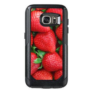 Funda Otterbox Para Samsung Galaxy S7 Diseño rojo del modelo de las fresas