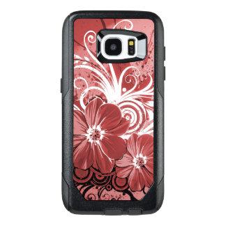 Funda OtterBox Para Samsung Galaxy S7 Edge Arte rojo hermoso del vectror del extracto del
