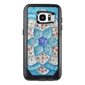 Funda OtterBox Para Samsung Galaxy S7 Edge Azules turquesas marroquíes tradicionales, blanco,