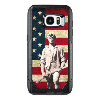 Funda OtterBox Para Samsung Galaxy S7 Edge Bandera patriótica del Minuteman