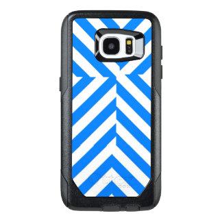 Funda OtterBox Para Samsung Galaxy S7 Edge Caja azul y blanca del teléfono celular de la raya