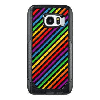 Funda OtterBox Para Samsung Galaxy S7 Edge Caja rayada arco iris del teléfono celular