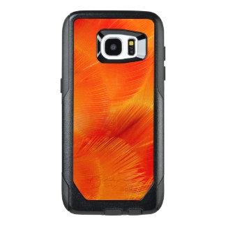 Funda OtterBox Para Samsung Galaxy S7 Edge Extracto anaranjado de la pluma del Macaw de