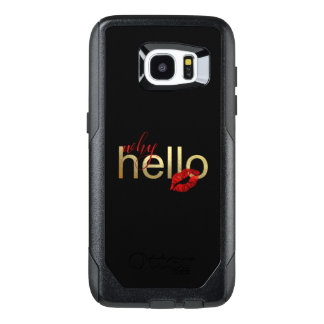 """Funda OtterBox Para Samsung Galaxy S7 Edge Galaxia S """"porqué hola"""" caja del efecto metalizado"""