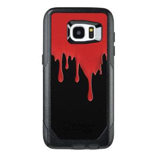 Funda OtterBox Para Samsung Galaxy S7 Edge Goteo rojo sangre