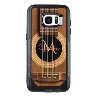 Funda OtterBox Para Samsung Galaxy S7 Edge Guitarra acústica de madera caliente