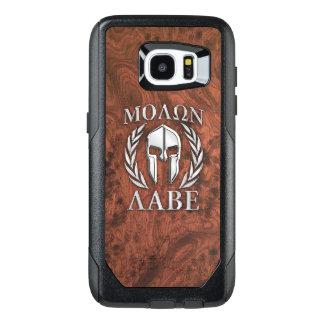 Funda OtterBox Para Samsung Galaxy S7 Edge Impresión de caoba del guerrero espartano de Molon