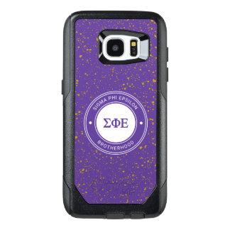 Funda OtterBox Para Samsung Galaxy S7 Edge Insignia del épsilon el | de la phi de la sigma