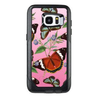 Funda OtterBox Para Samsung Galaxy S7 Edge las mariposas mezclan rosa
