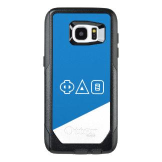 Funda OtterBox Para Samsung Galaxy S7 Edge Letras del Griego de la theta el | del delta de la